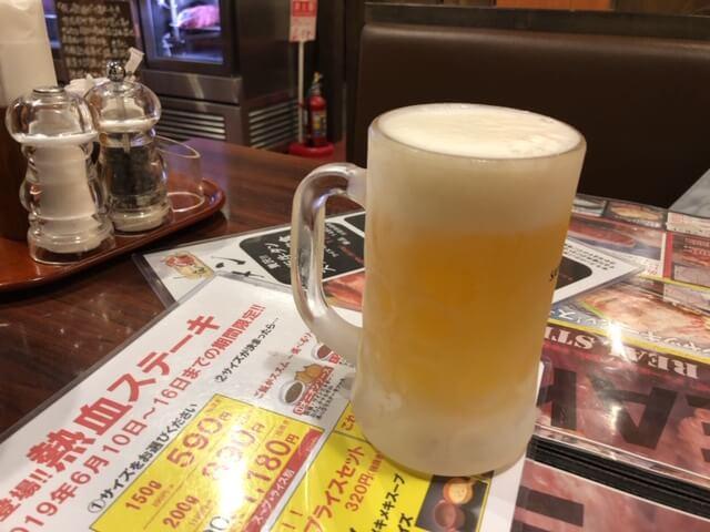 俺のステーキジョー千曲本店 ビール