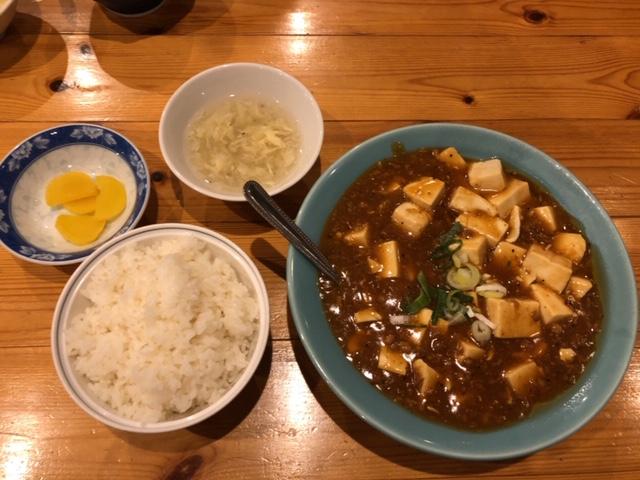 華龍飯店川中島店 麻婆豆腐定食