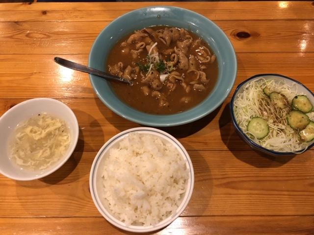 華龍飯店川中島店 もつ煮定食