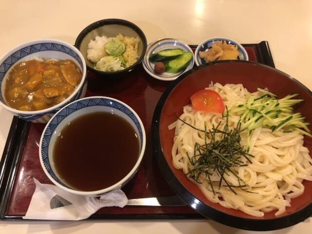 ざるうどん+ミニカレー丼