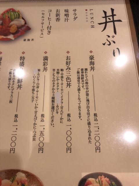 松栄寿司東口店 メニュー