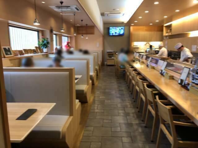 松栄寿司東口店 店内