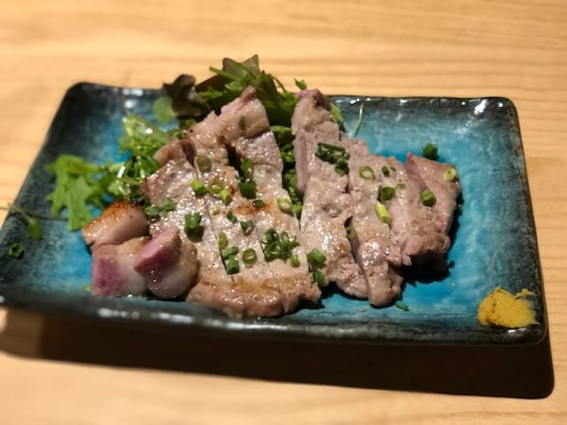 信州米豚の酒粕漬けグリル