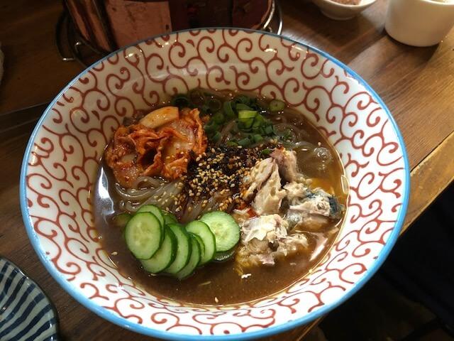 サバ味噌冷麺