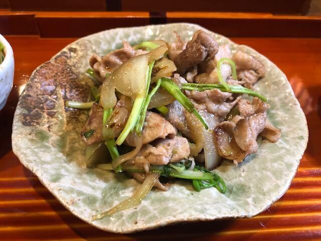 季節のランチセット 信州豚とセリ柚子胡椒炒め