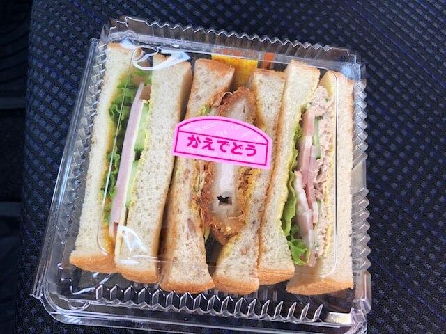 トースト3連サンド