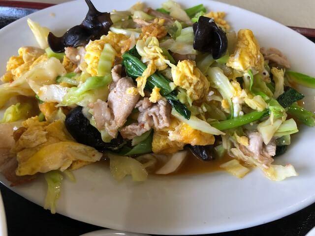 卵ときくらげの炒め定食