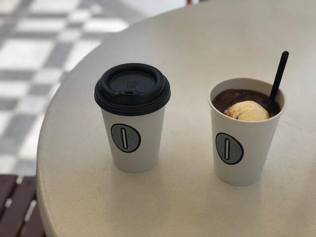 アイスコーヒーとコーヒーフロート