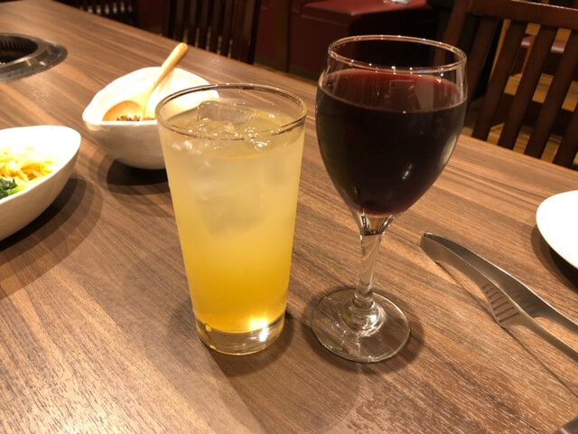 グラスワイン りんごジュース