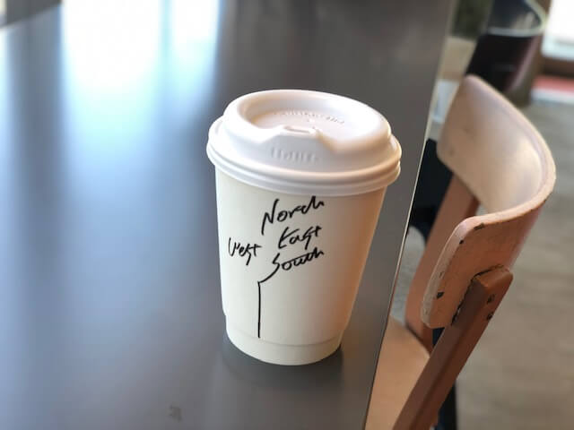 ノースサウスイーストウエスト テイクアウトコーヒー