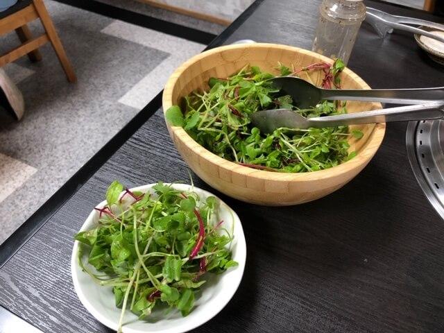 香草とクレソンのあっさりサラダ