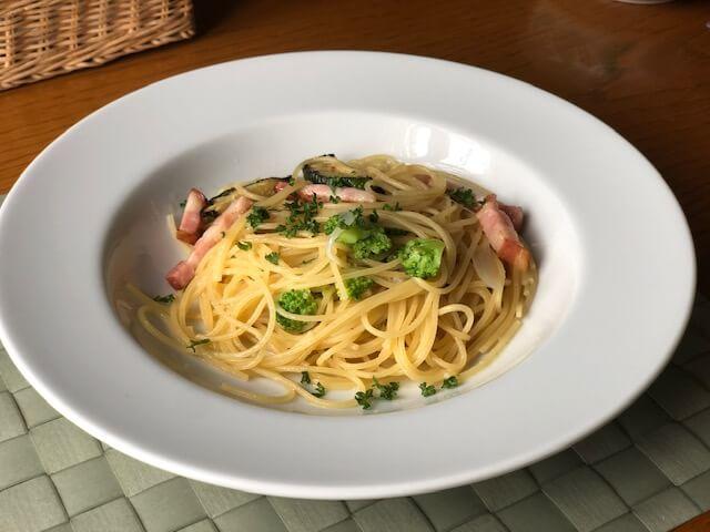 ズッキーニとベーコンのスパゲッティ