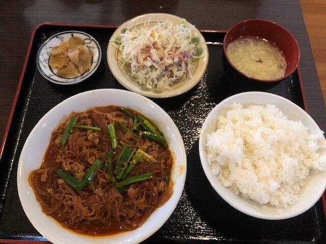 四川風マーボー春雨定食